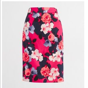 """JCrew """"The Pencil Skirt"""" in floral."""